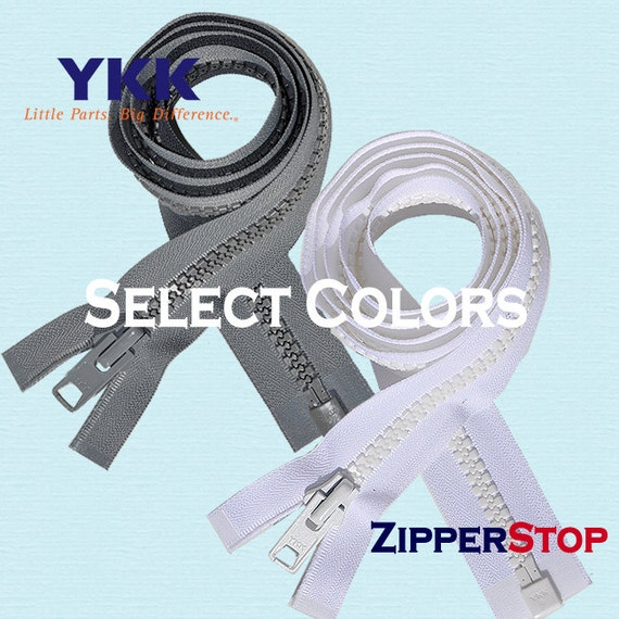 ZipperStop YKK® #5 Molded Plastic Separating ~ Red 519 ~ Jacket Zipper