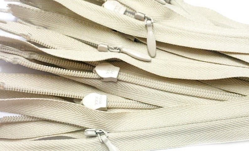 """100 13/"""" Invisible Zippers ~Closed Bottom~ White ~ YKK"""