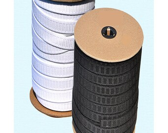 NON ROLL strong ELASTIC - 3/4 inch Roll Elastic - Polyester - 50 Yards  for Roll - Made in usa- Select Color Black or White