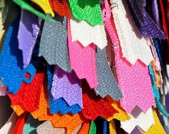 7 inch YKK Wholesale Zipper Assortment - 25 zippers YKK # 3 Skirt  Assortment of Colors ~ZipperStop Wholesale  Distributor YKK®