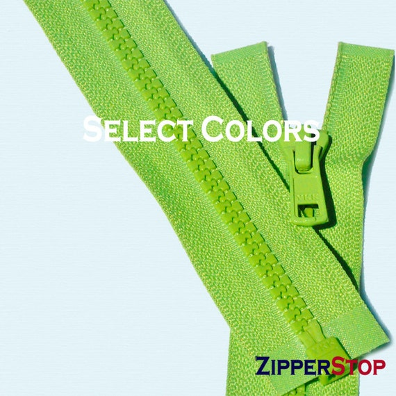 """Purple 559 14/"""" to 36/"""" #5 Brass Separating Jacket Zippers YKK ~ ZipperStop"""