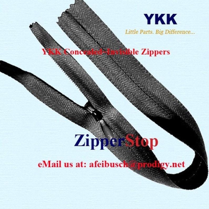 Invisible Zipper Closed Bottom Hidden Ykk zippers BLACK 20 WHOLESALE ykk INVISIBLE zipper- 20 inch