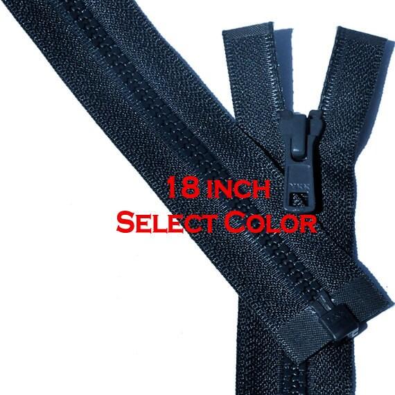 28 Vislon Zipper ~ YKK #5 Molded Plastic ~ Separating 519 Hot Red 1 Zipper// Pack