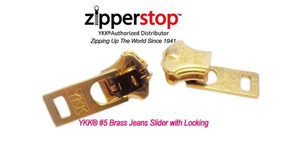 #5 Metal Brass YKK Slider Double Lock 10 Pack for Jeans