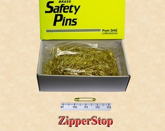 3/4inch  number 00 Safety Pins - 1440 per Box - 10 Gross - Gold