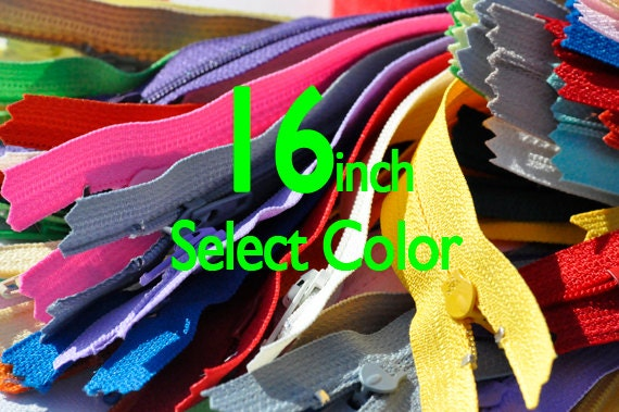YKK #3 Skirt /& Dress Zippers 16 Inch ~ Assortment of Colors 25 Zippers