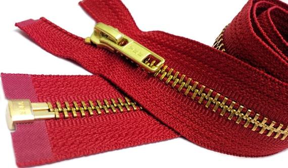 """14/"""" to 36/"""" #5 Brass Separating Jacket Zippers YKK ~ ZipperStop Beige 573"""