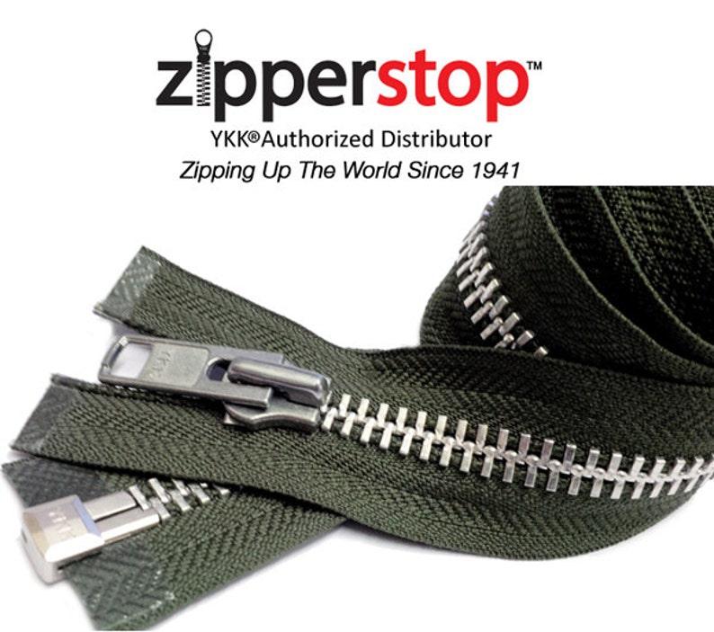 26 inch White /& Aluminum #10 YKK Heavy Duty Separating  Zipper