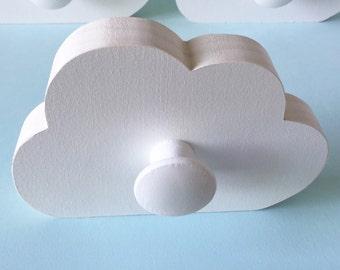 Cloud Wall Hook, Room Decor,  White Cloud,  Kids Decor, Cloud Hanger, Eco-friendly