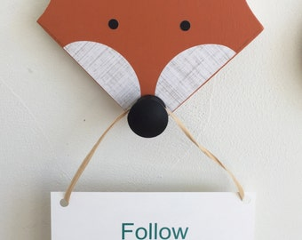 Orange Fox Wall Hook, Fox Animal Head, Fox Nursery Decor, Faux Taxidermy, Woodland Themed Nursery, Fox Kids Decor