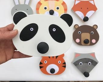 Animal Wall Hook, Panda Nursery, Animal Wall Hanger, Children's Wall Art, Animal Nursery, Faux Taxidermy, Baby Nursery, Lion Hanger,