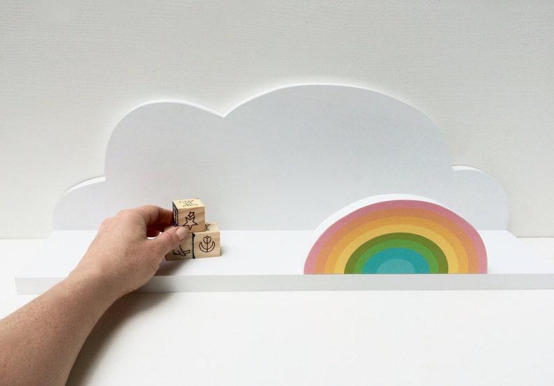 étagère Murale Nuage Avec Arc En Ciel étagère Murale Nuage Etsy
