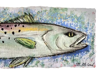 Speckled trout FISH - MATTED PRINT to fit a 10x20 Frame