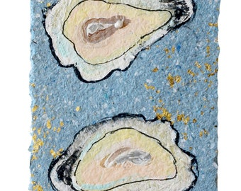 Oyster Stack - MATTED PRINT to fit a 10x20 Frame