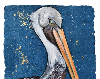 Brown Pelican - Print MATTED to 11x14