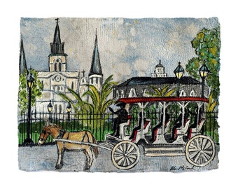 New Orleans Buggy Ride- PRINT (matted to 11x14)