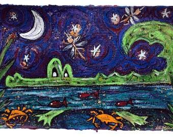 Gator Lake LARGE PRINT 9x15