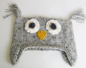 PDF PATTERN KNITTING Tweedy Owl Hat