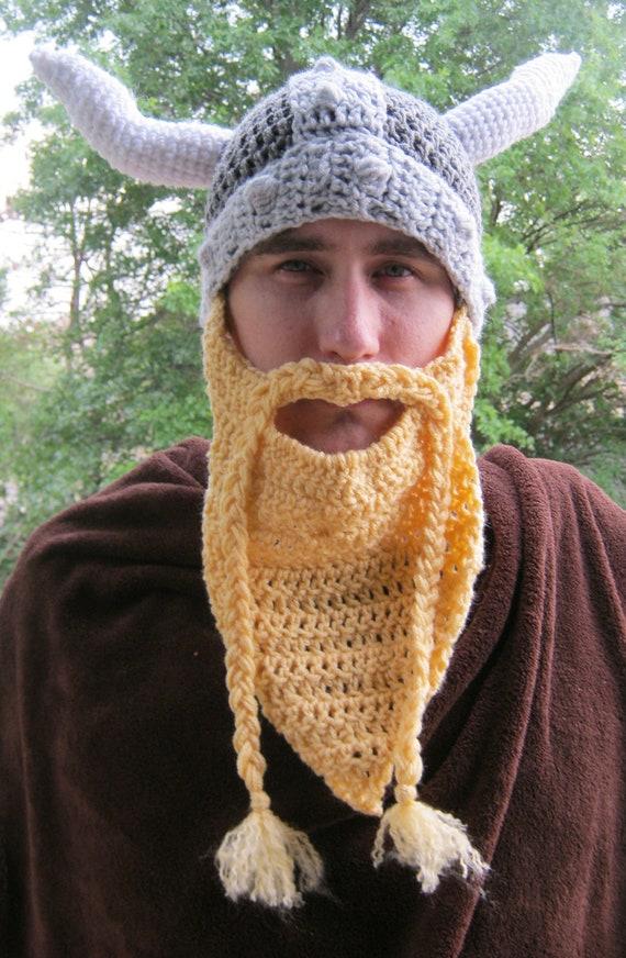 Pdf Crochet Pattern Volga Viking Hat Etsy