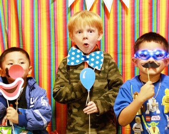 Circus Printable Printable PHOTO BOOTH PROPS - Editable Text  >> Instant Download   Paper and Cake