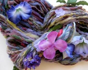 BOGO SALE-read announcment-handspun art yarn, Impressionist Garden