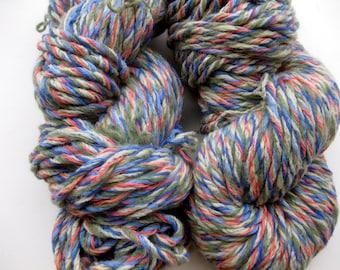 handmade upcycled yarn, Tuscan Sky
