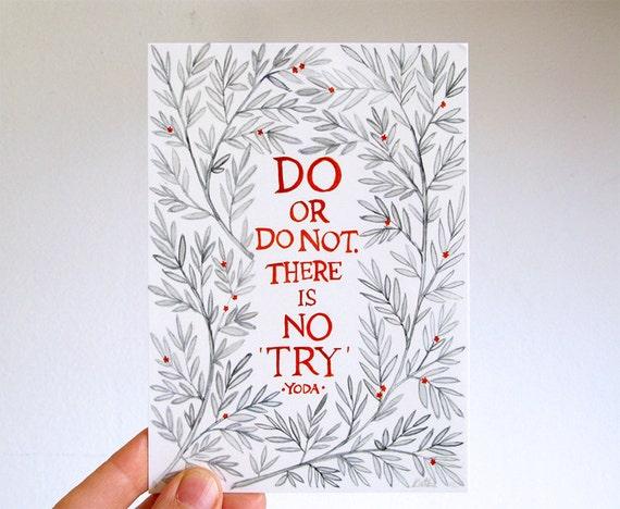 Ilustración Acuarela De Frases Postal Caligrafía William Morris Marco Floral