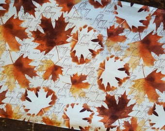 Fall Table Runner Autumn Leaves Are Falling Padded