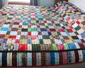 Colorful Crazy Scrap Quilt Blanket Full Queen King 88 quot by 108 quot Bright Beautiful