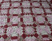 OOAK Floral Queen Full or Twin Quilt, Shabby Roses Custom Quilt , 95 quot x78 quot Quilt, Quilted floral Blanket Traditional