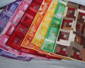 OOAK 43 quot by 33 quot Patchwork Quilt, Log Cabin Lap quilt or Baby Child Blanket , Many colors