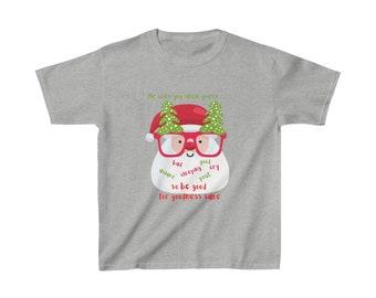 Santas Warning Kids Heavy Cotton Tee Santa Claus is Coming to Town