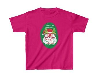 Santa Claus is Coming to Town Kids Heavy Cotton Tee