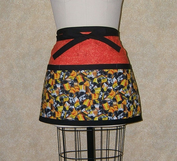 Sparks flying apron xtall long batik print yellow red orange cotton lined pocket boho hippie free spirit 29 34 long 21 wide 33 long ties