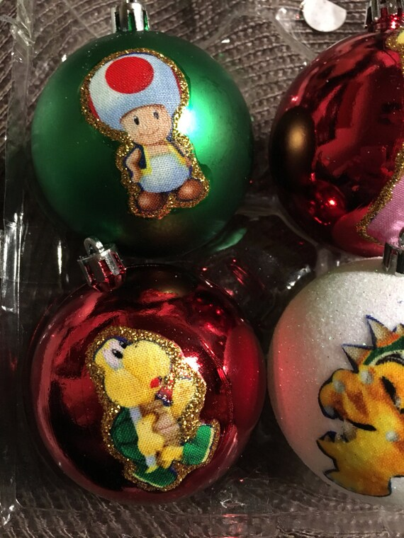 Super Mario Question Block Ornament Glitter Christmas Holidays Handmade New
