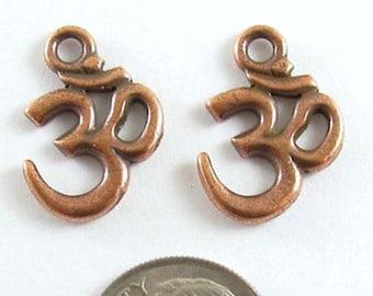 TierraCast Pewter Ohm Aum Charms-Copper OM HINDU SYMBOL (2)