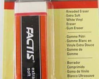 General's Art Eraser Set-Kneaded, White Vinyl & Gum (3 Pack)