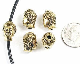 TierraCast Pewter Beads-Antique Gold  BUDDHA HEAD (5)