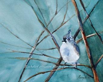 for her mom gift for mom bird painting in watercolor painting of bird PRINT SET large bird art print set mom grandma girlfriend winter