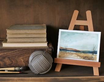 impressionist  landscape painting ORIGINAL Minimalist landscape painting- Original abstract landscape watercolor PAINTING national park 4