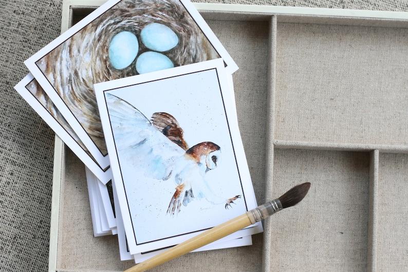 BLANK cards. Bird art card pack II Mixed bird CARD set. image 0