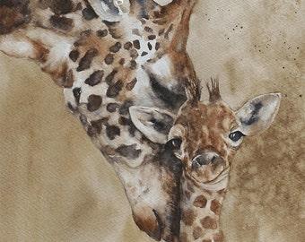 Safari Nursery animal prints. Baby Animal Art for Boys Room. Wall Art for Girls Room. Watercolor Animal Print set Elephant Giraffe Lion