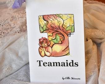 Teacup Mermaids Art Zine #4, Watercolor Mermaid Zine