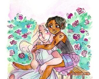 Rose Garden Girlfriends, Missing Monday Digital Print