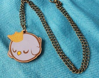 Sleepy Bird Necklace