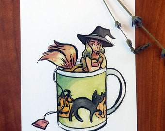 Tea Lover Postcard Set: Oops! All Witches Edition