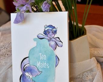 Teacup Mermaids Art Zine #2, Watercolor Mermaid Zine