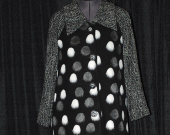 Retro 1940's Full Length women's coat with Raglan Sleeves