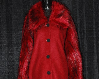 Full Length Coat with Raglan Sleeves