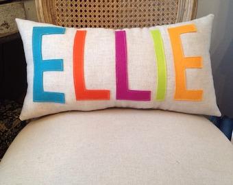 Custom Name Pillow- You Choose The Colors